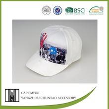 BSCI Audit children white modern city printed cotton classic brand cap hat