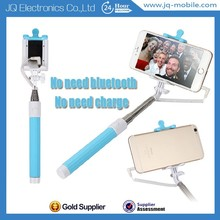 2015 New Arrival Monopod/Economy Cost Wired Cable Free Connect Bluetooth Seifle Stick With Mirror