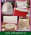 2015 Hot venda de luxo ouro Laser cartão do convite do casamento