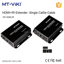 Best price MT-ED06-IR 100m hdmi extender cat5e/cat6 over lan with ir remote control