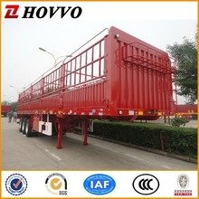 China supplier 3 axle fence cargo truck trailer 2/3 Axles animal transport trucks with gooseneck style optional