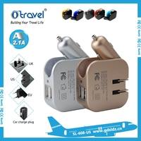 Cheapest Universal car charger with Universal AC US UK AU EU plug Travel Adapter