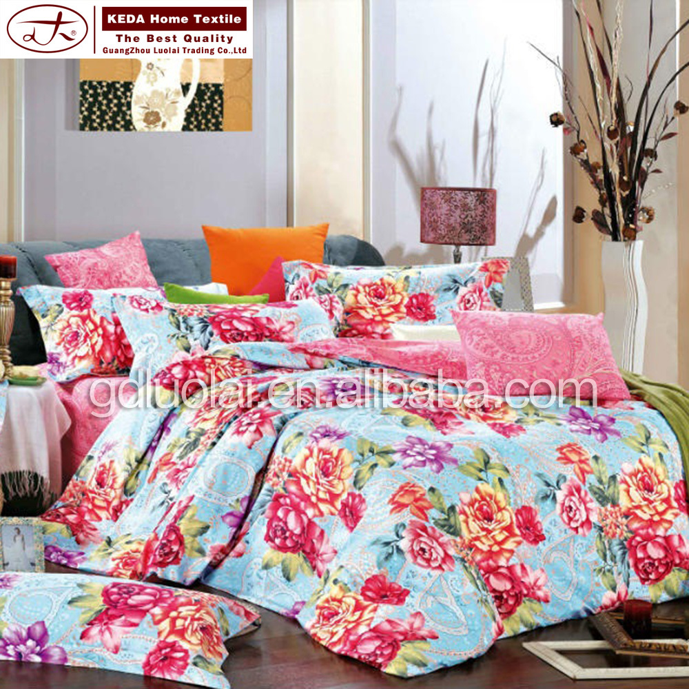 2015 New Style Modern Bed Sheet Hand Embroidery Design Bed