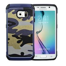 Marine Camo leather case for Samsung galaxy S6 edge plus