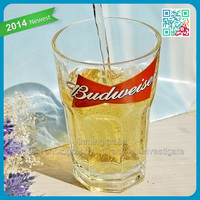 Costumes wholesale beer steins top quality products made high white glass beer wholesale with beer famous brand logo