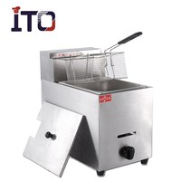 CI-71 Stainless Steel Automatic Fish And Chips Deep Continuous Gas Fryer