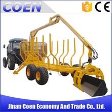8T ATV log Loader Trailer with Crane