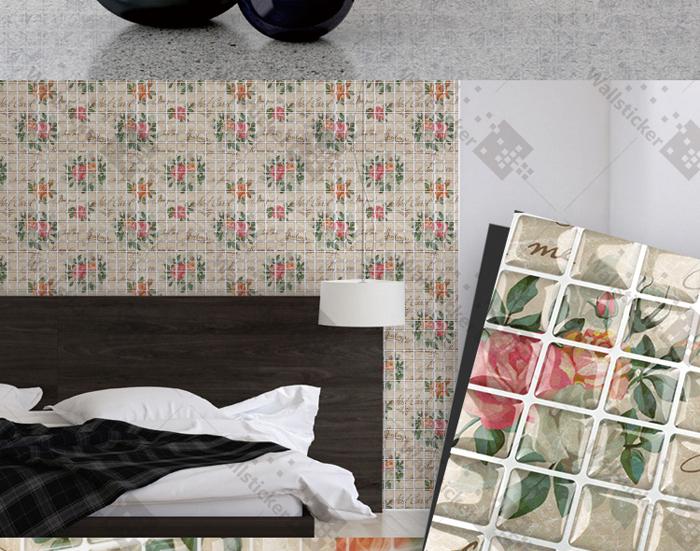 Auto tela adhesiva 3d gel mosaico azulejo de la pared/sala de ...