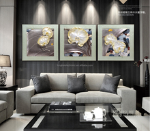 Artist Painting For Home Decoration, 3d Wall Painting With Relief Sculpture In Cold Porcelain