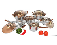 12 pcs happy baron Stainless Steel Cookware Set, happy home