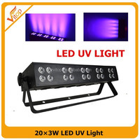 2015 NEW 20*3W LED UV Light, uv black light, black light uv strip led