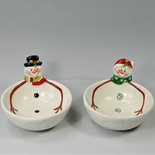 Pintados à mão de natal de cerâmica tigela, As crianças usadas de natal tigela