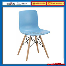 GY-619 Best Selling Wooden Legs Plastic Dining Chair for Wholesale