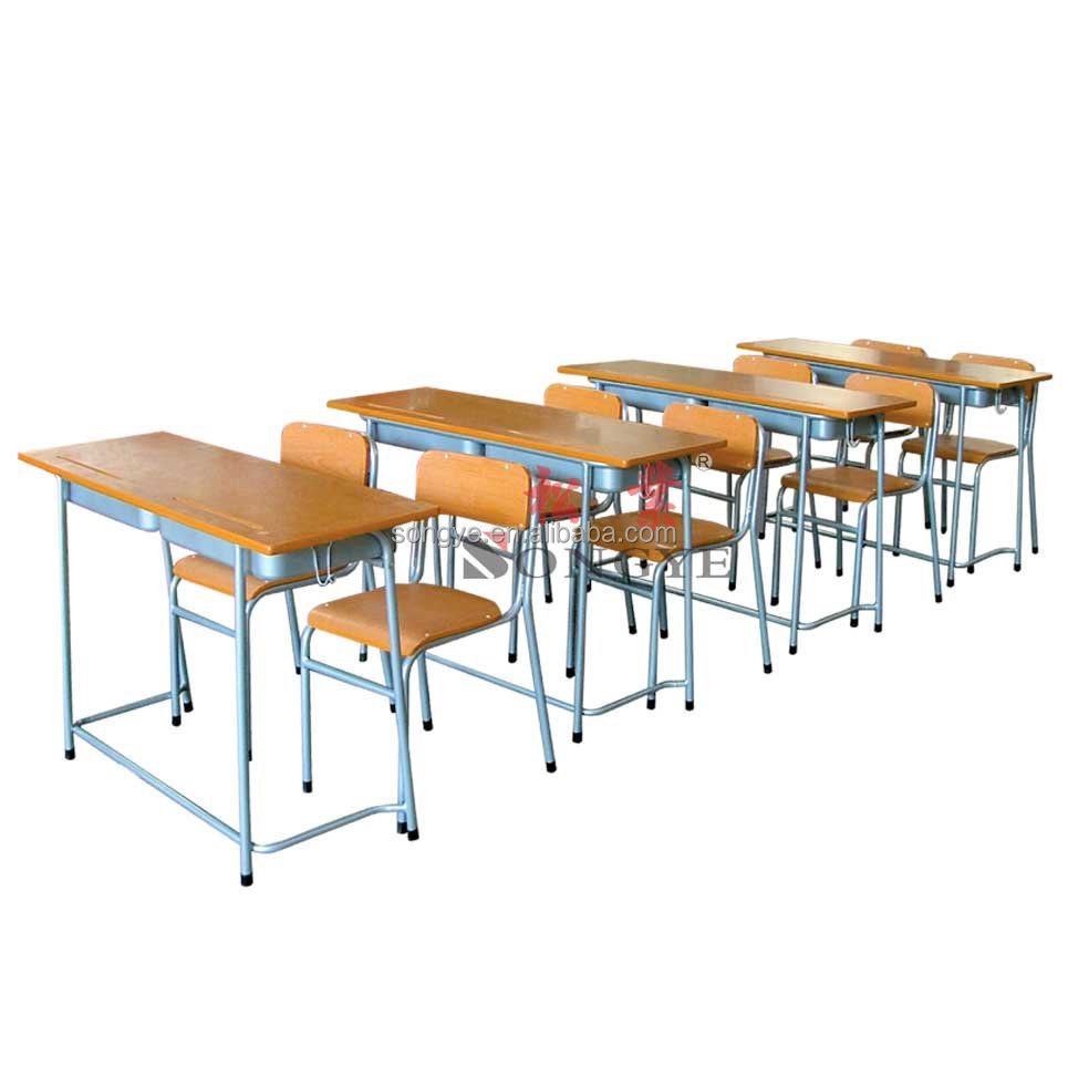 Mid Eastern Double Desk Chair School Furniture Buy Double Desk And Ch