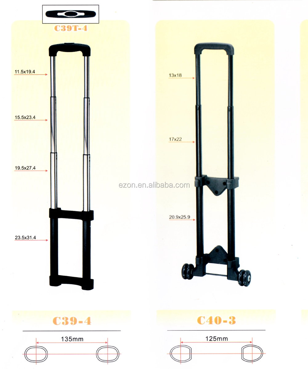 Retractable Aluminum Rolling Luggage Trolley Handle