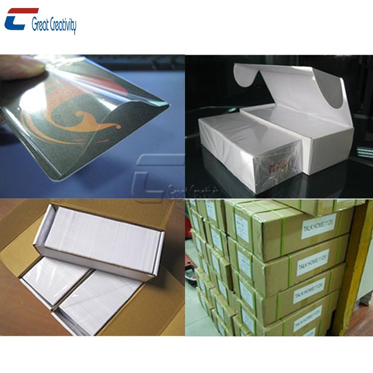 Cxj Group Metallic Silver Blank Magnetic Stripe Pvc Gift Credit ...