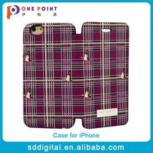 Hot sale pu leather flip cell phone protector case for iphone 6