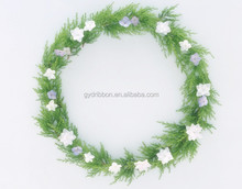 Decoration Wedding White Flower Wreath for Wedding Car/Christmas flower wreath