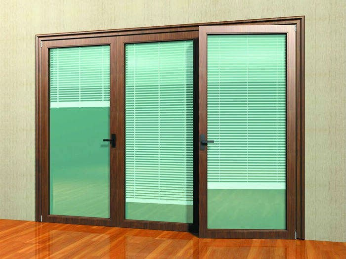 sliding glass door with blinds /door mini blinds /blinds between the ...