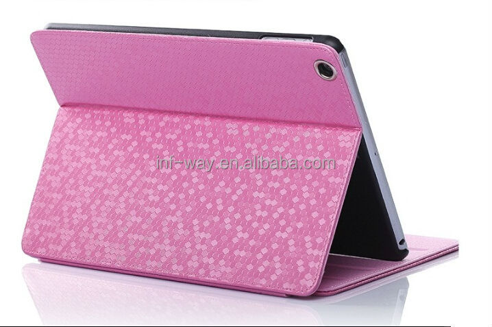 shinny blue wholesale for ipad 4 leather case