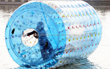 TPU Good Quality Inflatable Roller Ball , Water Toy Games For Aqua Park