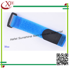 Blue Color Printed Nylon Magic Strap Tape With Plastic Buckle/Hook And Loop