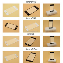 glass for Iphone 4 4s 5 5s 5c 6 6 plus black white for repair screen