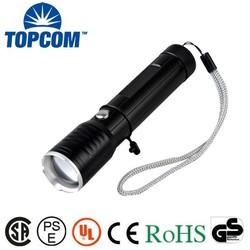 TP-1872 Aluminum Alloy Recharginging Hole XPE LED Rechargeable Flashlight