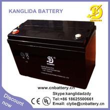 Kanglida 12v 100ah deep cycle storage battery for ups supplier in China