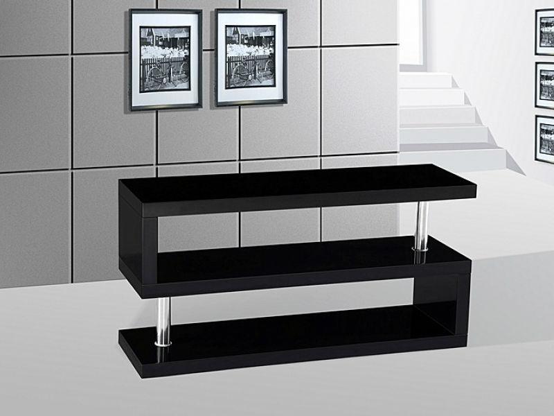 sala de estar de alto brillo de madera mesa de tv moderno soporte de ...