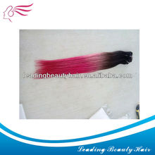 100% human hair weft extention in two colors