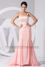 Discount Full Length Pink Mermaid Prom Dress Formal Evening Dresses
