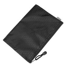 Document Bag/ Black Nylon Document Files Organizer Bag