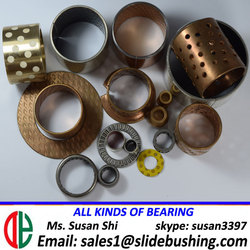JF800 oilless bushing oilite steel bush plastics, POM, stell bushing spcc and scp1 the topcoat is a ptfe fr156 25x40x58 bearings