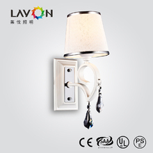 modern e14 wall corner lamp with fabric shade