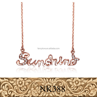 Fancylove Brand Fashion 925 pure silver alphabet letter sunshine necklace star design popular sold necklace