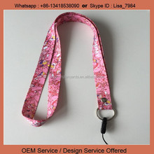 ID card lanyard Polyester Material sock mobile phone holder lanyard