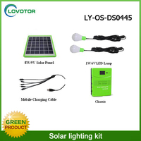 Two 1.2W led light bulb lighting system mini solar kits for remote area