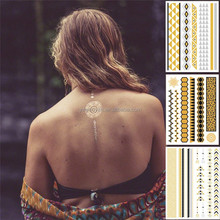 wholesale jewelry in gold body art flash tattoo sticker face paint stickers fashion bracelet jewelries