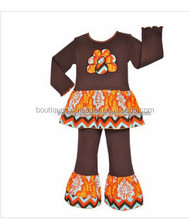 2015 Fashion Baby Long Sleeve Outfit Toddler Girls Thanksgiving Day Girls 2 Pcs Clothes Set Kids Clothing Set