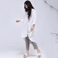 Pequeño minorista de largo blanco para mujer blusas ajustadas con ropa