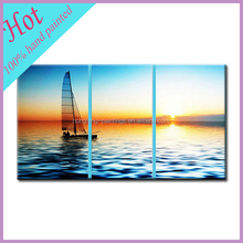 Top selling products 2015 handmade sea and boat oil painting