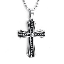 Wholesale Stainless Steel Jesus Cross Pendant Bulk Sale Matt Design 2015