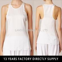 ladies sleevless solid white tank top