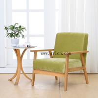 Europe style wood frame upholstery coffee chair/leisure chair/living room chair