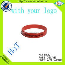 NEW RED COLOR Cheap custom silicone rubber wristbands