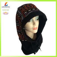 Fashionable warm beanie winter hat polar fleece balaclava hood