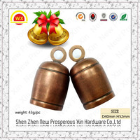 2015 Christmas antique jingle terracotta copper stainless steel bells
