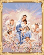 yiwu art suppliers the Madonna angels paint by numbers on canvas for modern living room decor GX7401