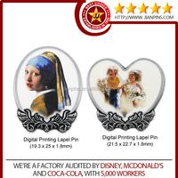 Art and Collectible Customized Digital Printing Lapel Pin/ Badge